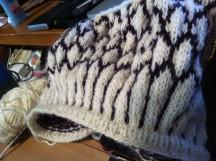 Top-down, Idunn sweater. In Progress.