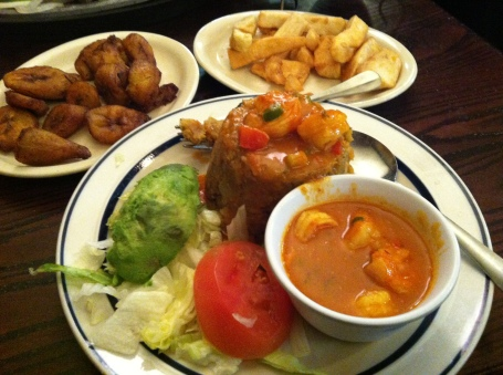 Mofongo Amarillos and Yuca