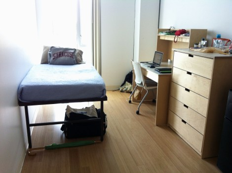 My dorm room. I love it! PS. I'm only here for four days this week. I won't be living here the whole year.