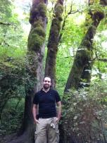 Oren in the rain forest.