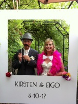 The bride and groom -- Kirsten and Eigo