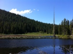 Trillium Lake's quiet splendor.